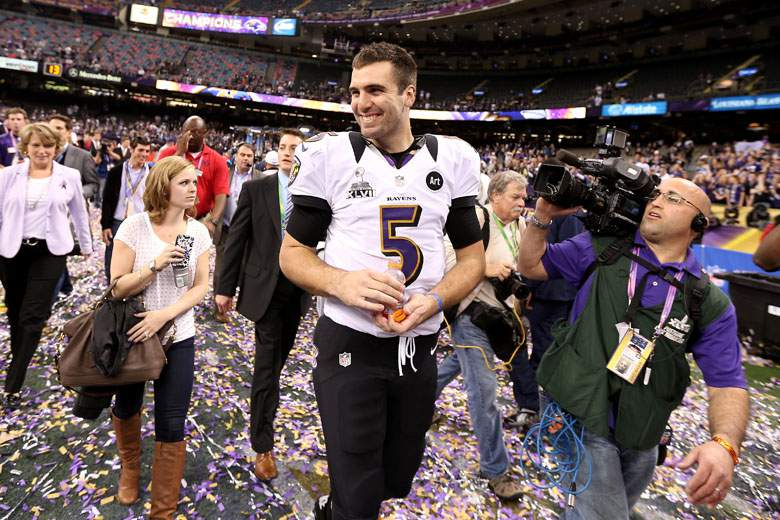 Joe Flacco And Dana Grady