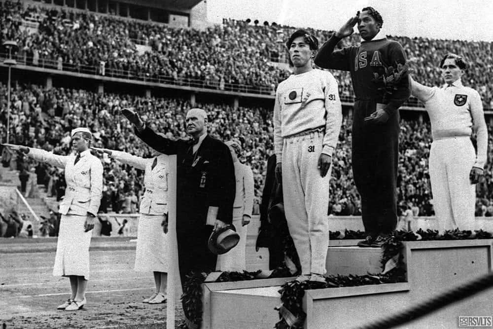 Jesse Owens Stands Tall
