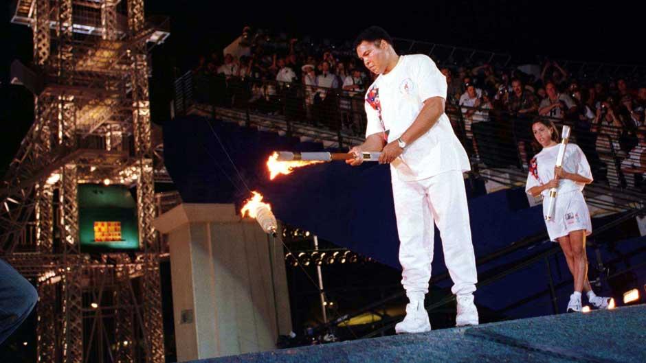 Ali Lights The Torch