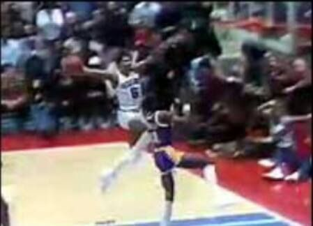 Dr. J Over Michael Cooper
